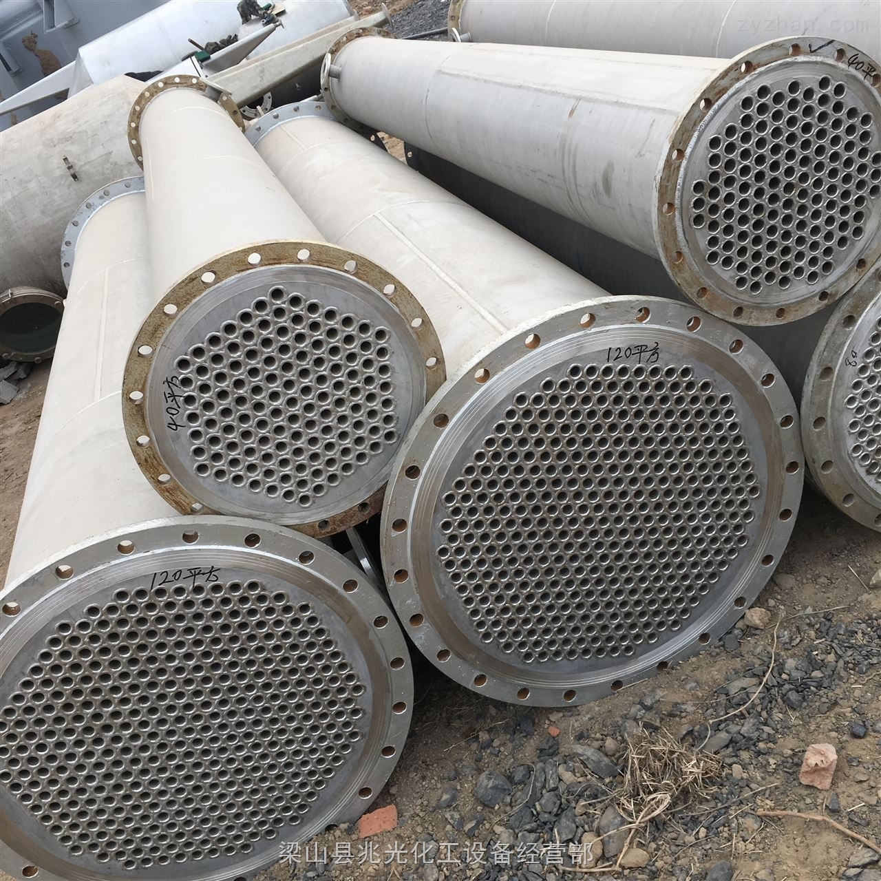 二手30平方20平方全不锈钢列管式冷凝器出售