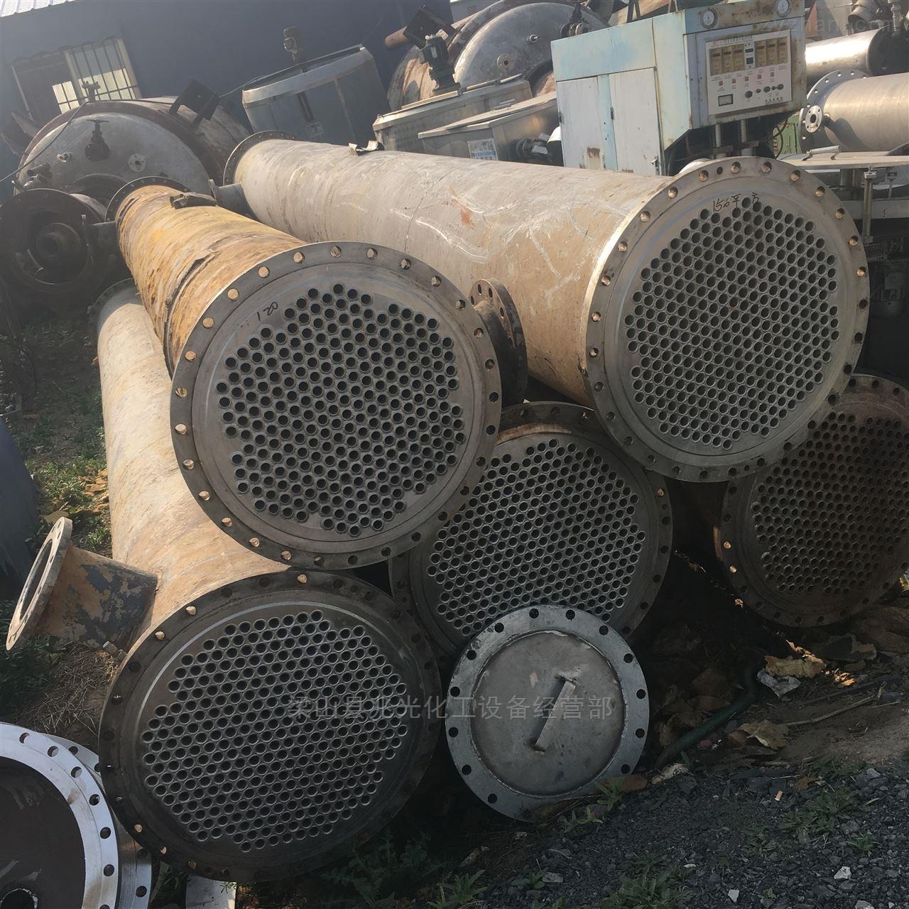 库存二手100平方全不锈钢列管式冷凝器
